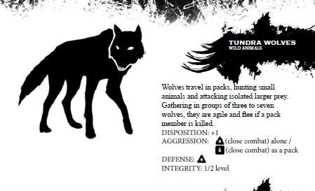Tundra wolf profile